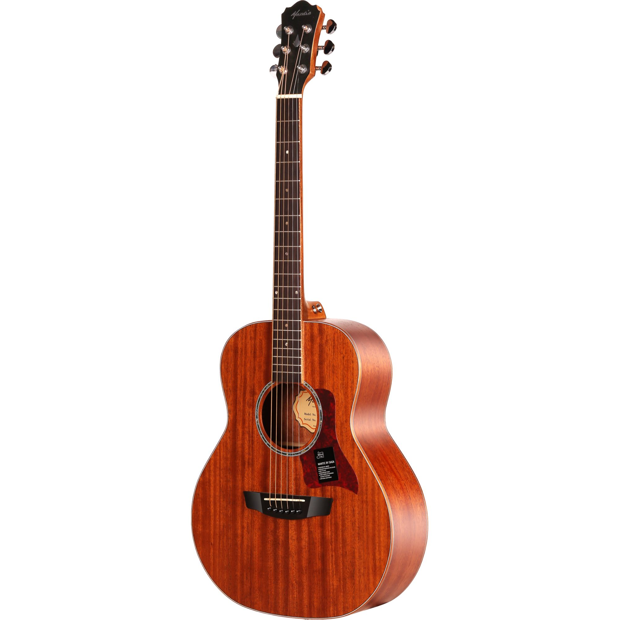 Mantic BG2  Travel Acoustic Guitar -Mahogany finish