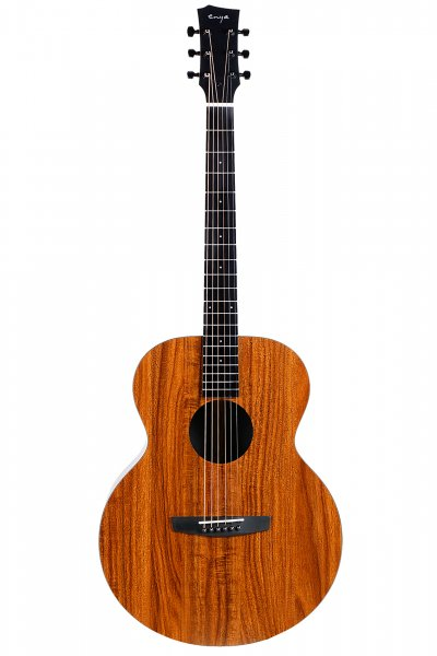 "Enya EM-X1  EQ  ""36"" Acoustic Guitar- All Koa Finish"