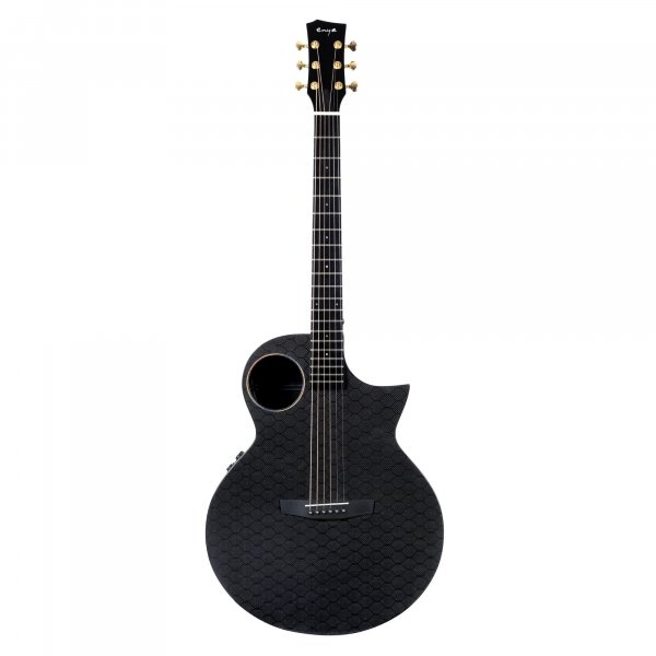Enya EA-X4EQ  TransAcoustic Guitar-  Black Glossy  with Hard case