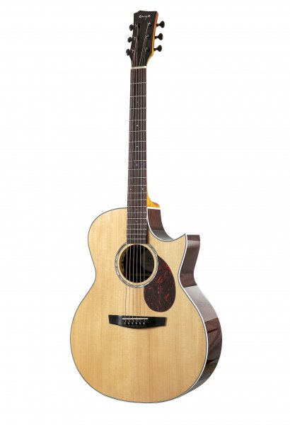 Enya EA-Q1 EQ   Solid Top TransAcoustic Guitar- Natural